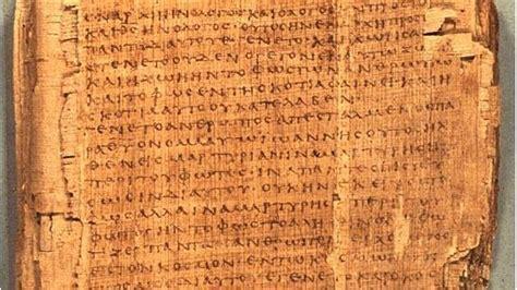 el papiro egipcio el primer libro de la historia los fragmentos de evangelio m 225 s antiguos del mundo www