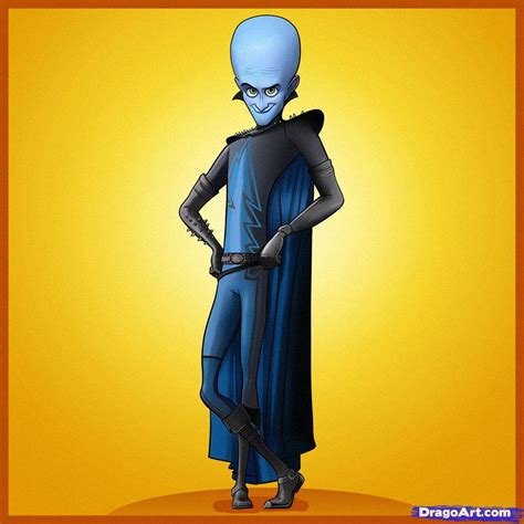 Sketch Online Free how to draw megamind step by step movies pop culture