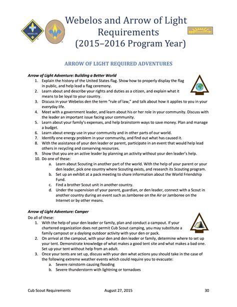 webelos arrow of light requirements arrow of light requirements cub scout requirements cub