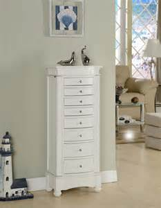 nathan direct muscat white jewelry armoire j1016arm l w