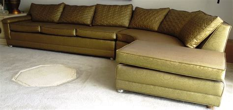 vintage 1960s sofa couch vinyl gold color for sale