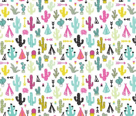 colorful arrow wallpaper colorful cactus and teepee botanical summer garden and