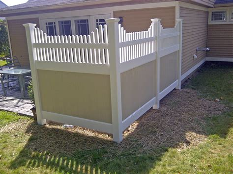 patio fence designs vinyl privacy fence poly enterprises