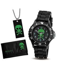 Argos Kitchen Furniture by Tikkers Boys Skull Watch Gift Set Ib495be Amazon Co Uk