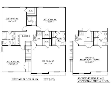home design 2nd floor house plan 2691 a mccormick 2nd floor plan 2691 square