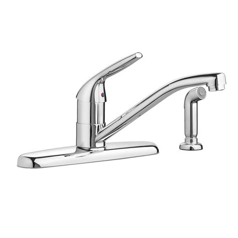 american standard arch single handle side sprayer kitchen american standard colony choice single handle standard