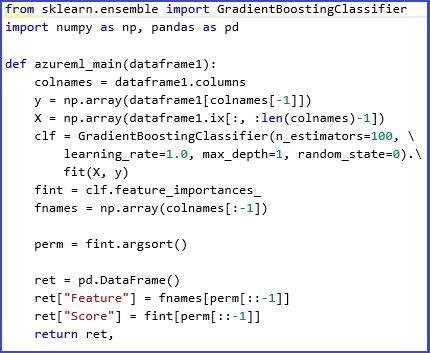 execute python machine learning scripts microsoft docs