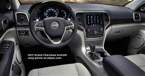 2017 jeep grand cherokee dashboard 2017 jeep grand cherokee the flagship suv upgraded