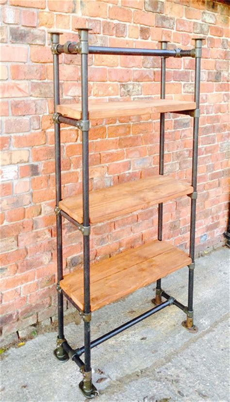 industrial style free standing scaffold shelving unit
