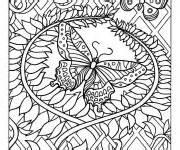 coloriage papillon difficile gratuit 224 imprimer