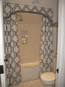 shower valance with curtains transitional bathroom