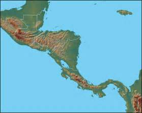 physical map of central and south america physical map of central america central america