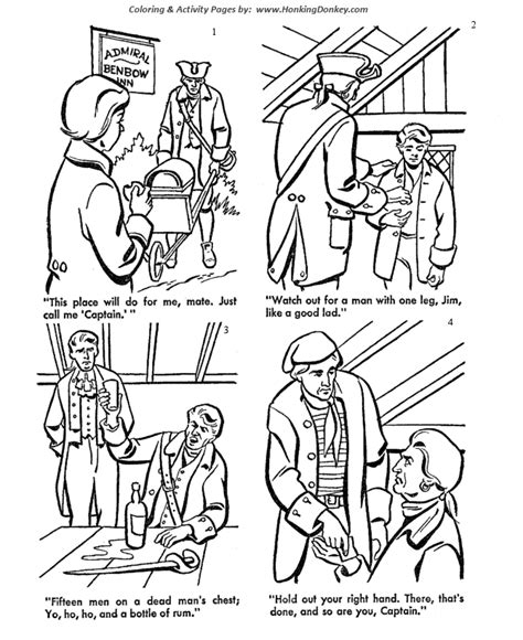 treasure island coloring pages coloring pages