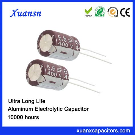 electrolytic capacitor operating voltage high voltage 6 8uf 400v 10000hours electrolytic capacitor