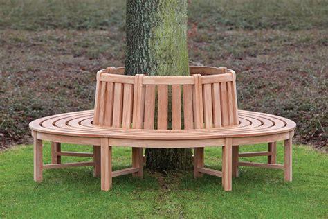 round tree bench teak tree seat