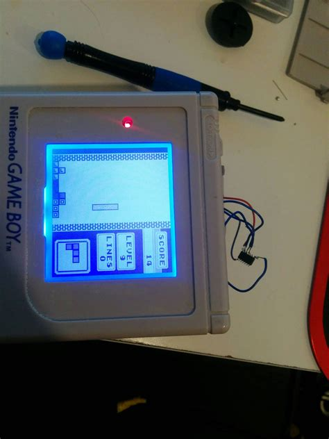 gameboy micro mod chip first backlight and bivert mod hardmode bare chip no