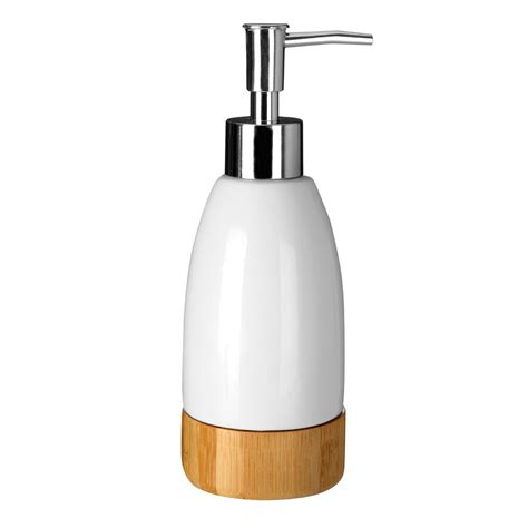 White Wooden Bathroom Accessories Earth White Dolomite Wooden Bamboo Base Bathroom Accessories Set Brand New