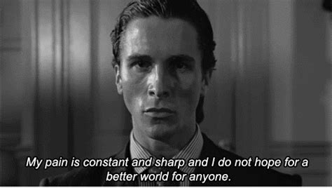 Patrick Bateman Meme - patrick bateman quote gifs find share on giphy