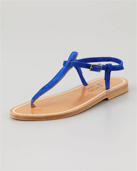 one sandal lyst k jacques picon tstrap sandal blue in blue