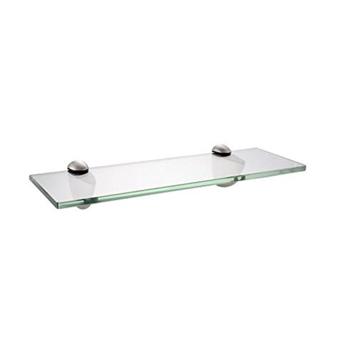 Glass Shelf Brackets Brushed Nickel by Kes 14 Inch Bathroom Tempered Glass Shelf 8mm Thick Wall