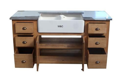 meubles evier meuble evier de cuisine 2 bacs en bois