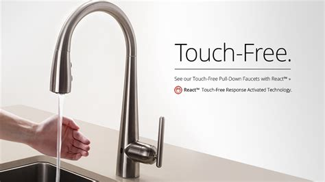 kitchen touch faucets touch activated kitchen faucet besto