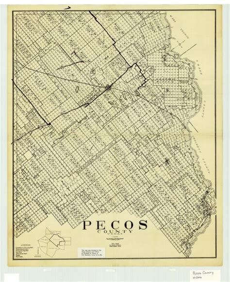 map pecos texas pecos county texas sequence 1 the portal to texas history
