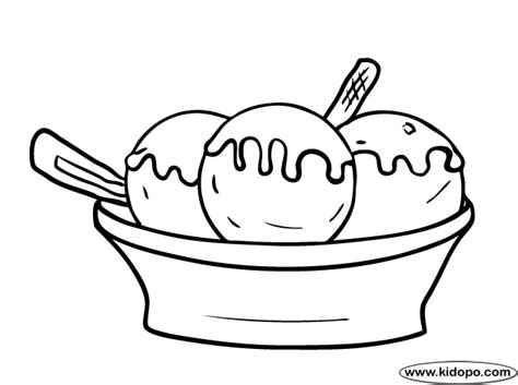 ice cream dish coloring page ice cream bowl coloring page