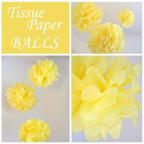 tissue paper balls     pom pom decoration