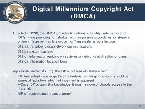 dmca section 512 internet piracy and the u s approach to addressing