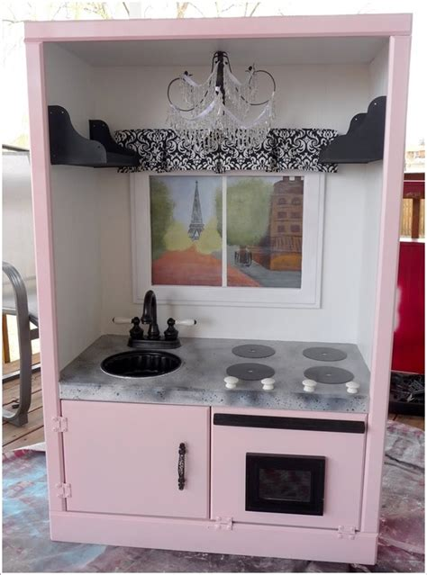 Tv Cabinet Into Play Kitchen Transform An Tv Cabinet Into A Play Kitchen For Your Princess