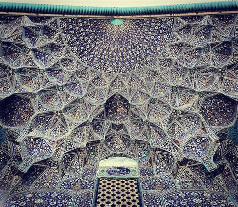 in iran the tessellated and elaborately detailed ceilings of