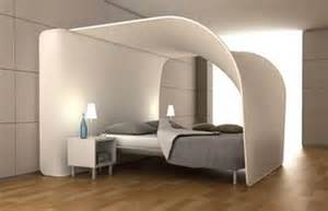 double feature curved bed canopy built in projection tv