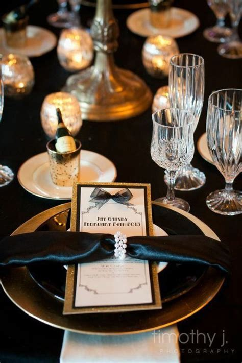 theme buffet names these great gatsby themed table names from jodi and asa s