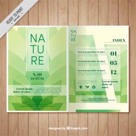 Nature Brochure Template Vector Premium Download | nature brochure template vector premium download
