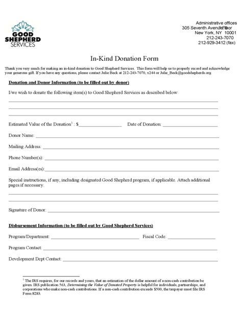 kind donation form   templates   word excel