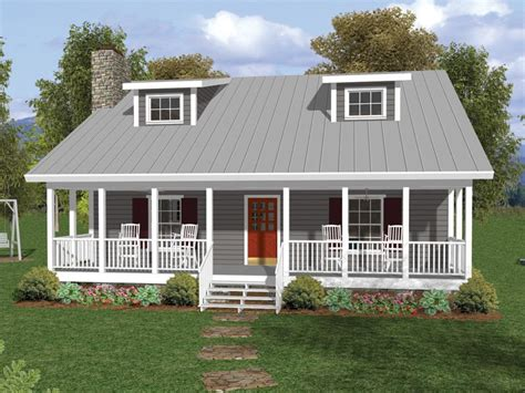 House Plans With Front Porch One Story by One And A Half Story Home With Covered Porch And