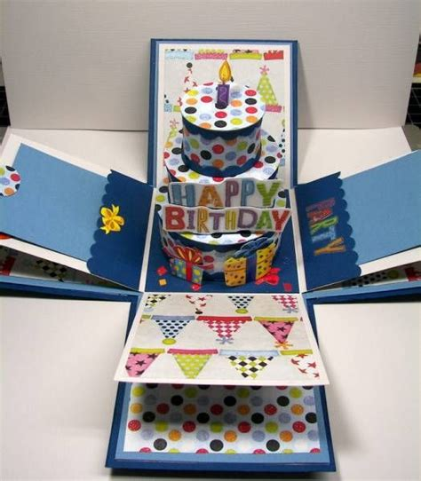 How To Make A Happy Birthday Card Best 20 Explosion Box Ideas On Pinterest Exploding Box