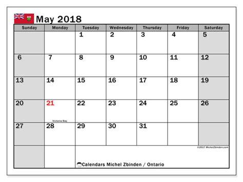 Printable Calendar 2018 Ontario | calendar may 2018 ontario