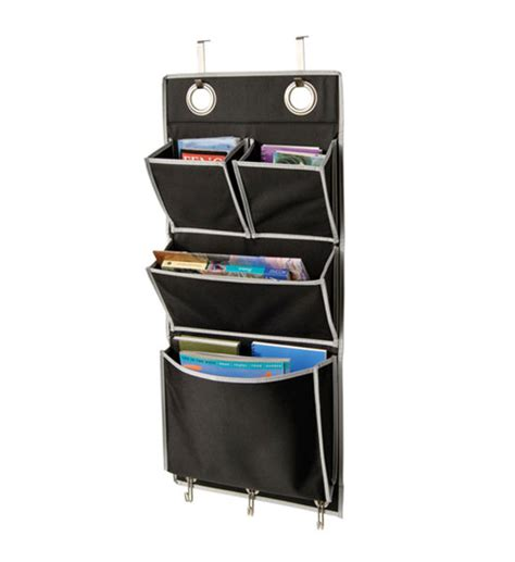 Over The Door Organizer | eyelet wall or over the door organizer black in wall and