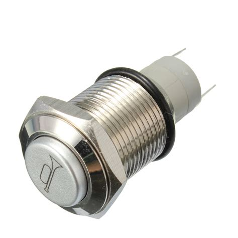 push button l switch 12v 16mm waterproof momentary horn metal push button