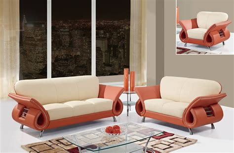 Orange Living Room Sets U559 Living Room Set Beige Orange Buy At Best