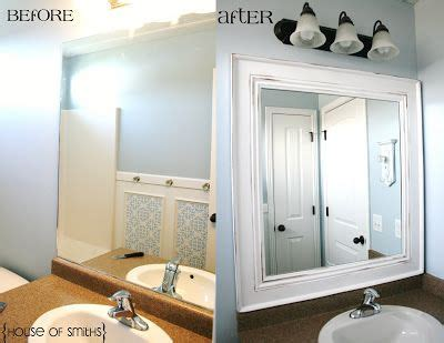girls bathroom mirror add a simple chunky frame to the mirror centsational