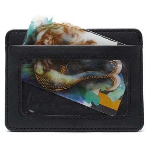 dompet kartu bahan kulit dengan slot transparan mini card