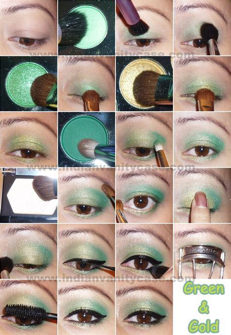 tutorial eyeshadow green verde tutorial de maquillaje de ojos trayectorio