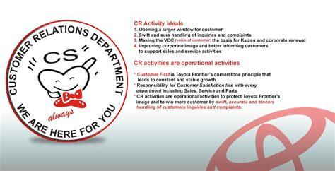 toyota customer relations customer relations toyota frontier motors