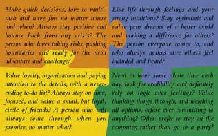 four color personality test what color are you