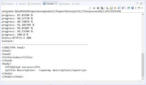 tutorial java httpclient code v 237 dụ upload file bằng java với httpclient stackjava