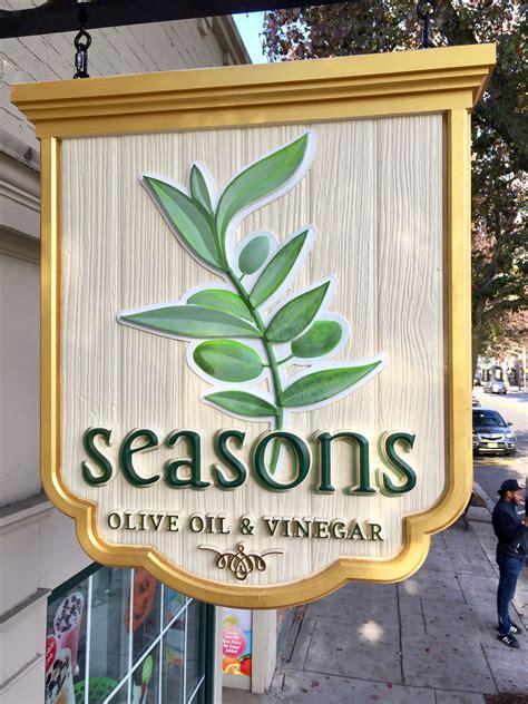 seasons olive oil vinegar hdu sign cnc carved  hand