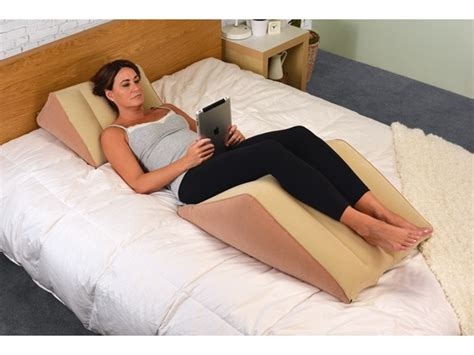 back max bed wedge pillow inflatable back max 20 quot
